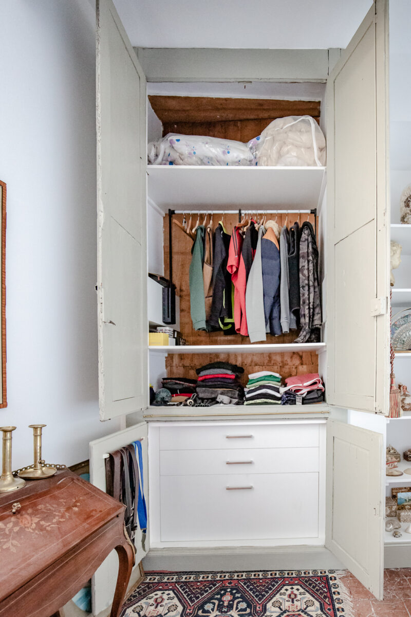 Amenager Un Placard Existant agencement dressing appartement 18ème - castellanos