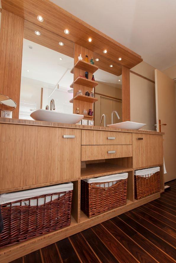 Salle de bain bambou castellanos - Set salle de bain bambou ...